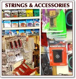 Guitar and bass strings, straps, capos, tunes and more for sale at Guitar Doctor