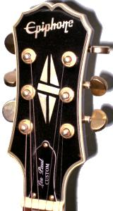 Epiphone Les Paul Custom Black Beauty guitar  headstock